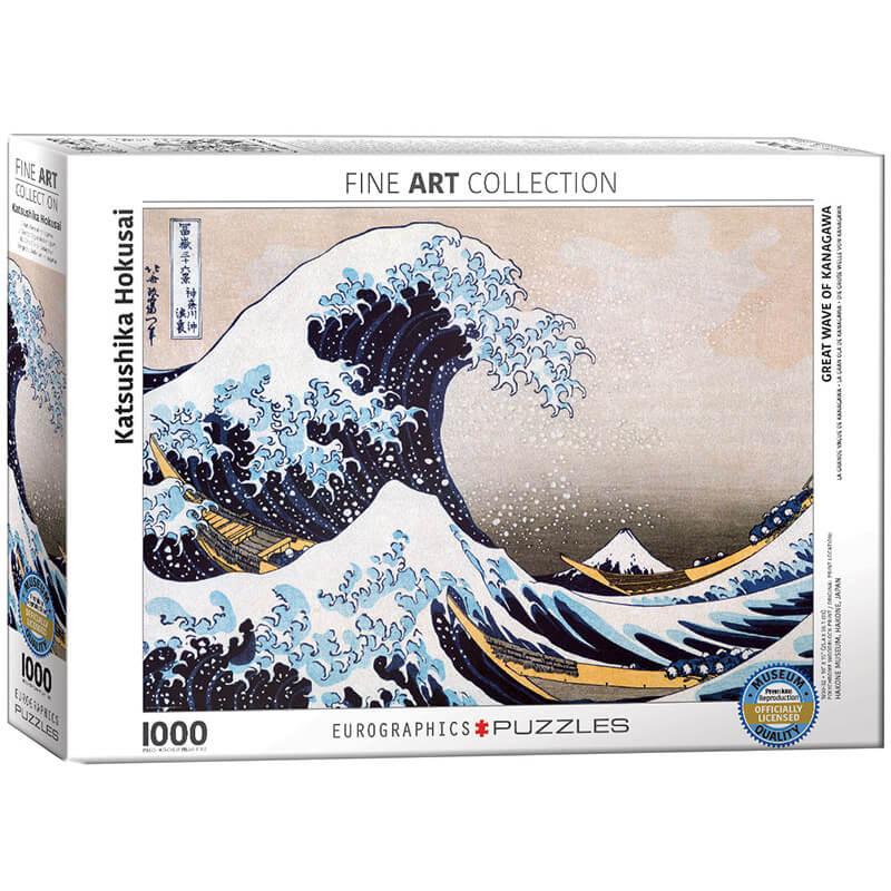 Eurographics Katsushika Hokusai Great Wave of Kanagawa 1000-Piece Puzzle - ODDO igračke