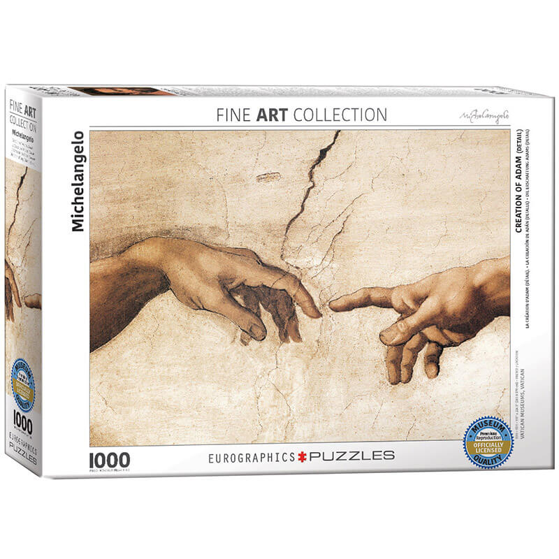 Eurographics Michelangelo Creation of Adam (Detail) 1000-Piece Puzzle - ODDO igračke