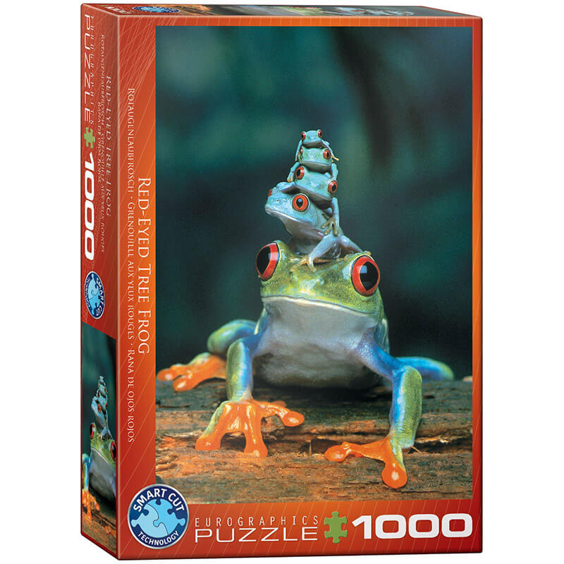 Eurographics Animals Red-Eyed Tree Frog 1000-Pieces Puzzle 3004 - ODDO igračke