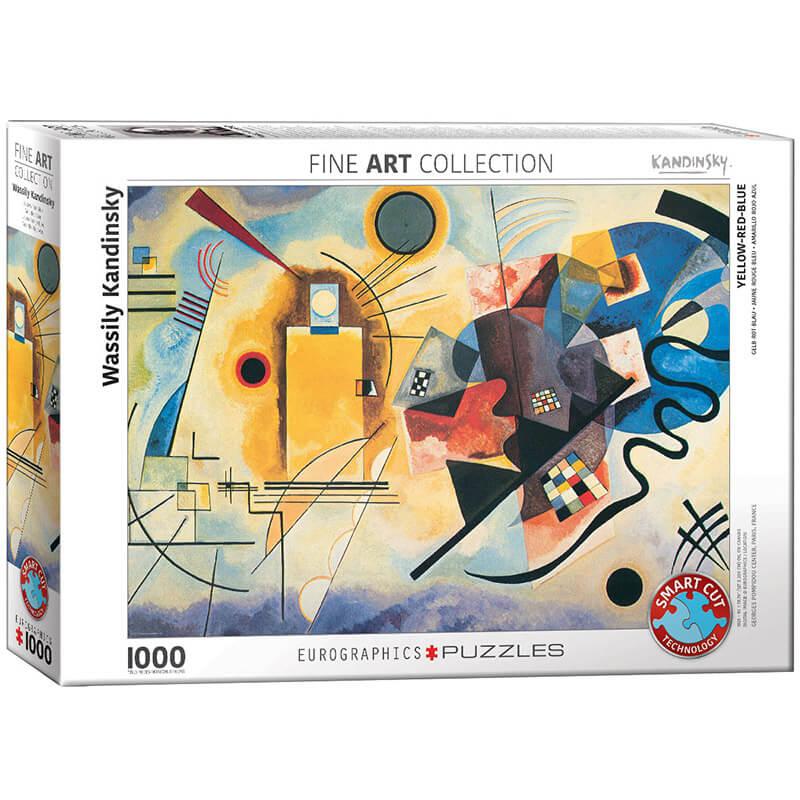 Eurographics Wassily Kandinsky Yellow Red Blue 1000-Piece Puzzle - ODDO igračke