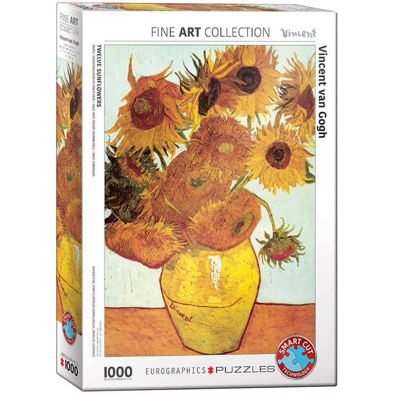 Eurographics Vincent van Gogh Twelve Sunflowers 1000-Piece Puzzle - ODDO igračke