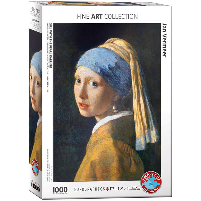 Eurographics Jan Vermeer de Delft Girl with the Pearl Earring 1000-Piece Puzzle - ODDO igračke