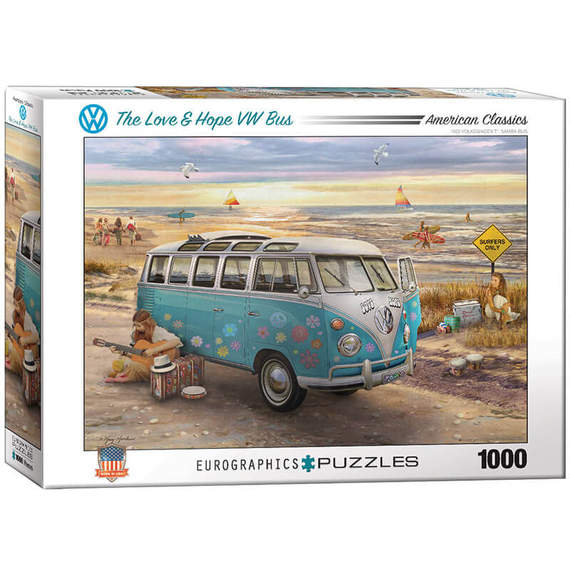 Eurographics The Love & Hope VW Bus by Greg Giordano 1000-Piece Puzzle - ODDO igračke