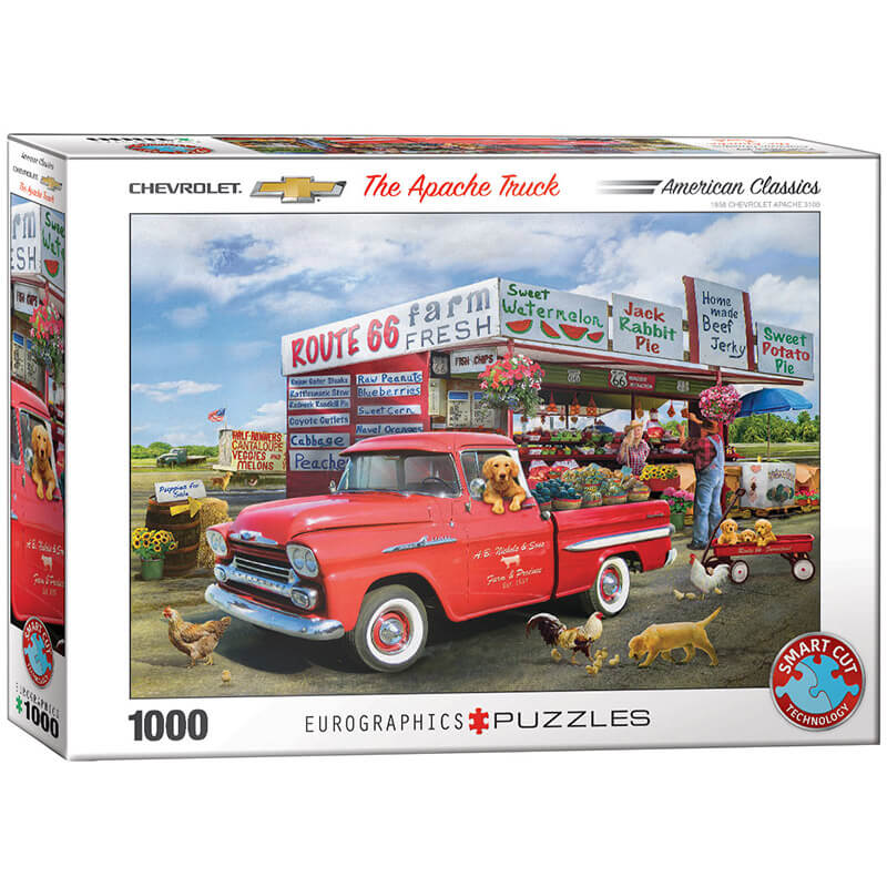 Eurographics The Apache Truck by Greg Giordano 1000-Pieces Puzzle 5337 - ODDO igračke