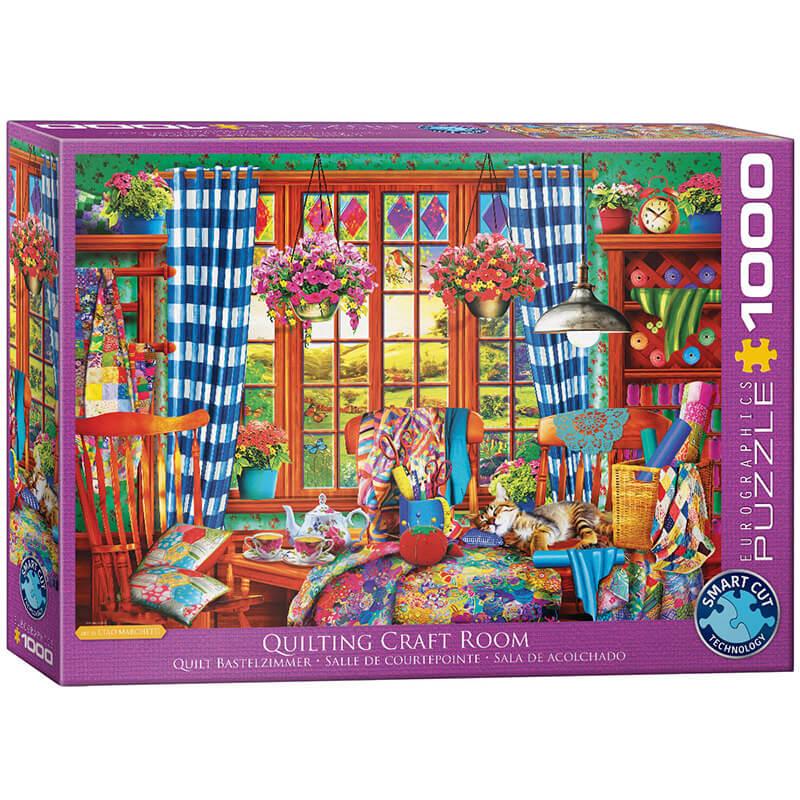 Eurographics Quilting Craft Room 1000-Pieces Puzzle 5348 - ODDO igračke