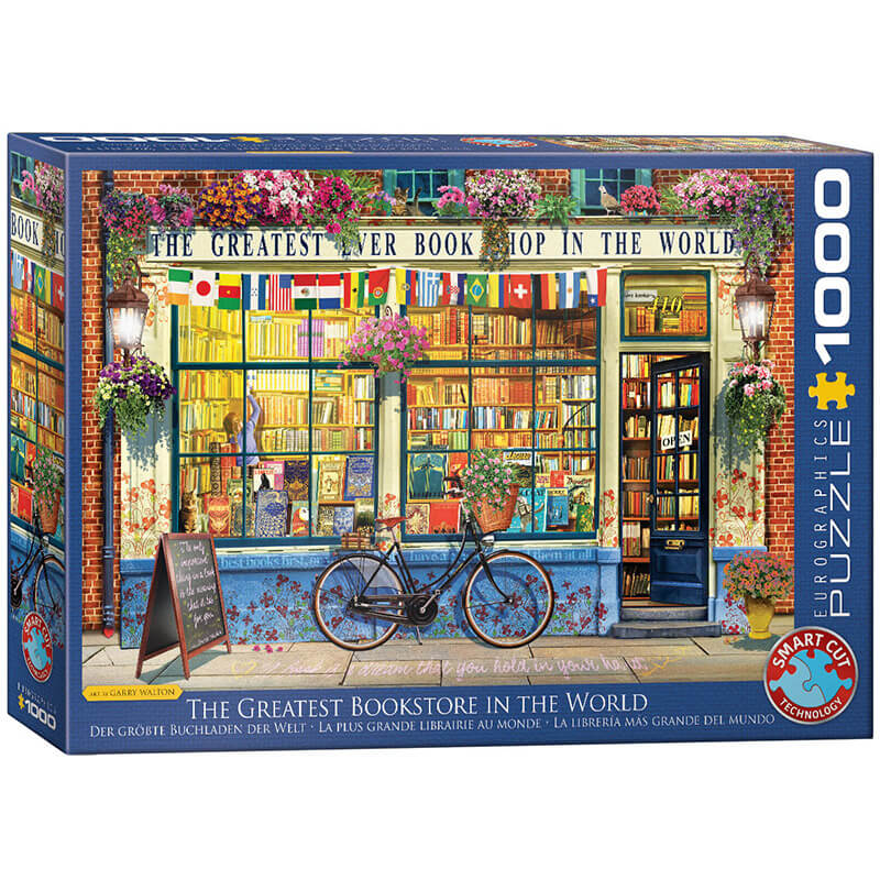 Eurographics The Greatest Bookstore in the World 1000-Pieces Puzzle 5351 - ODDO igračke