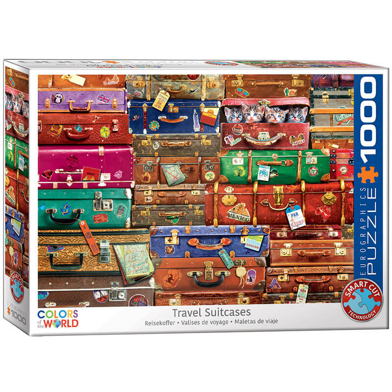 Eurographics Travel Suitcases 1000-Pieces Puzzle 5468 - ODDO igračke