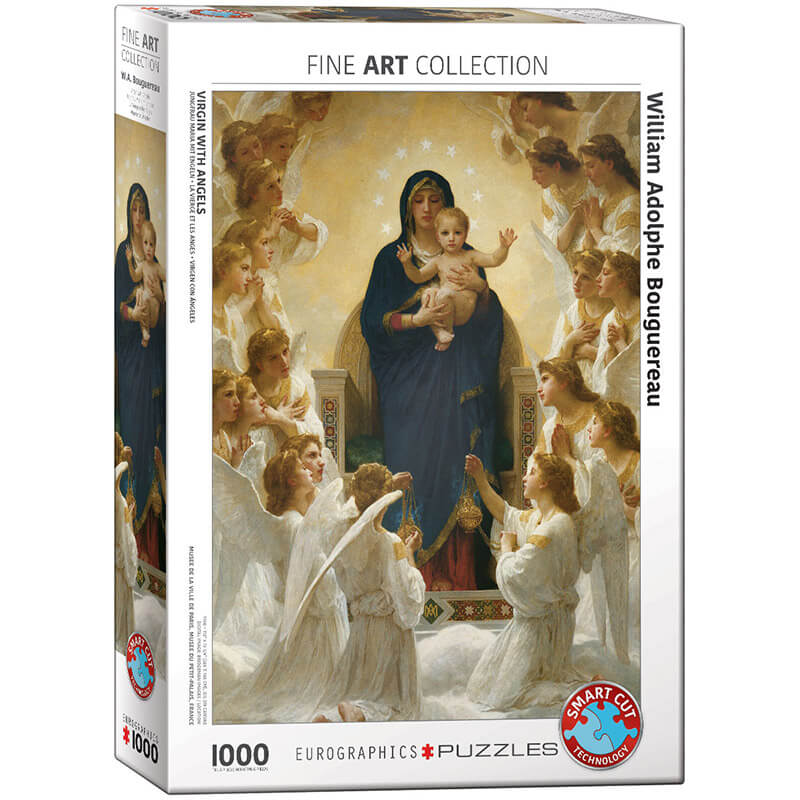 Eurographics William Adolphe Bouguereau Virgin with Angels 1000-Pieces Puzzle 7064 - ODDO igračke