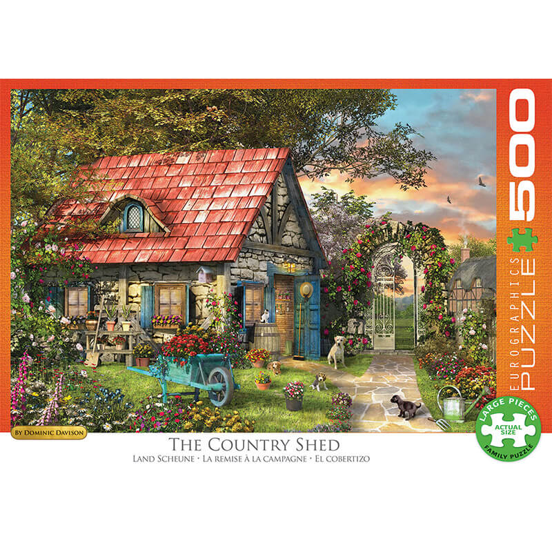 Eurographics The Country Shed by Dominic Davison 500-Piece Puzzle 0971 - ODDO igračke