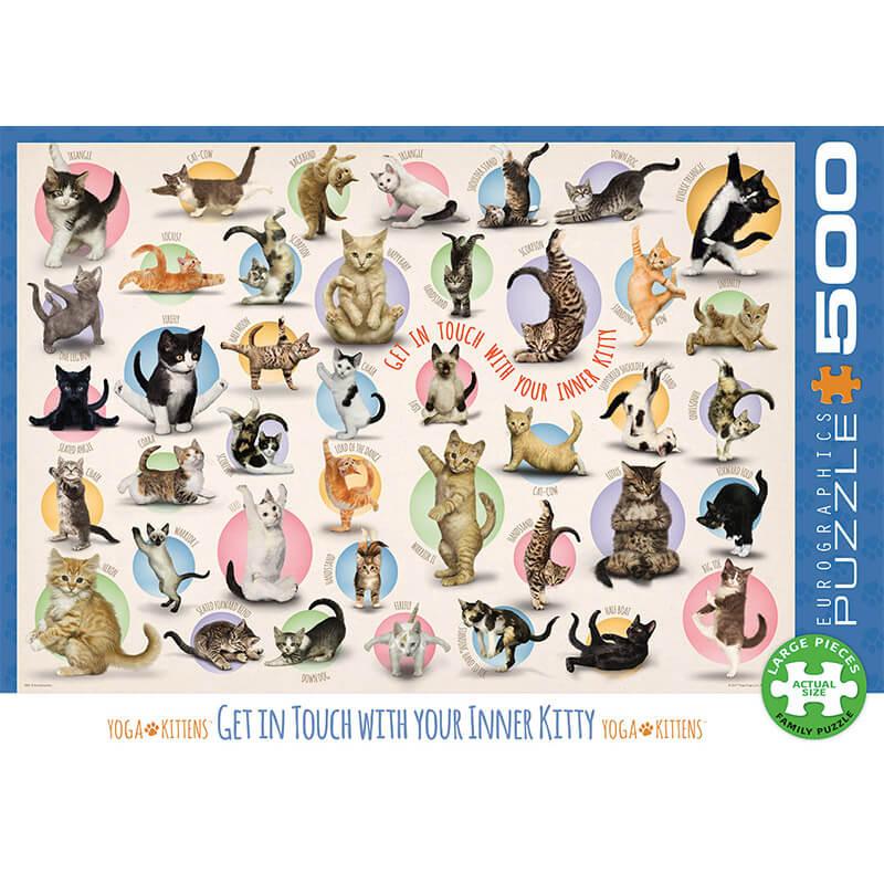 Eurographics Puzzle Yoga Kittens 500pcs 0991 - ODDO igračke