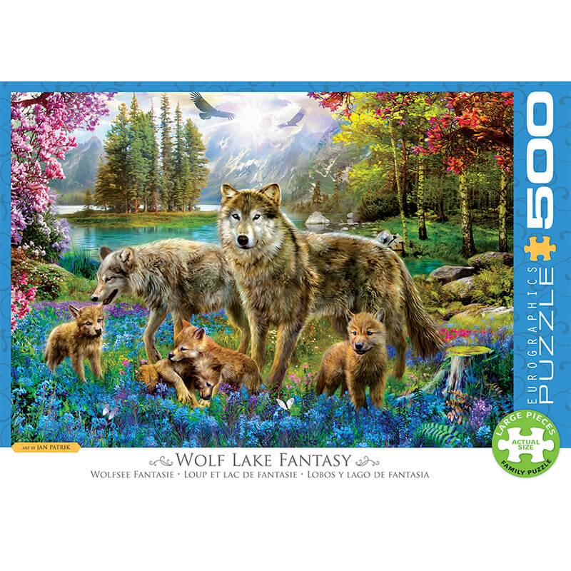 Eurographics Wolf Lake Fantasy 500-Pieces Puzzle 5360 - ODDO igračke