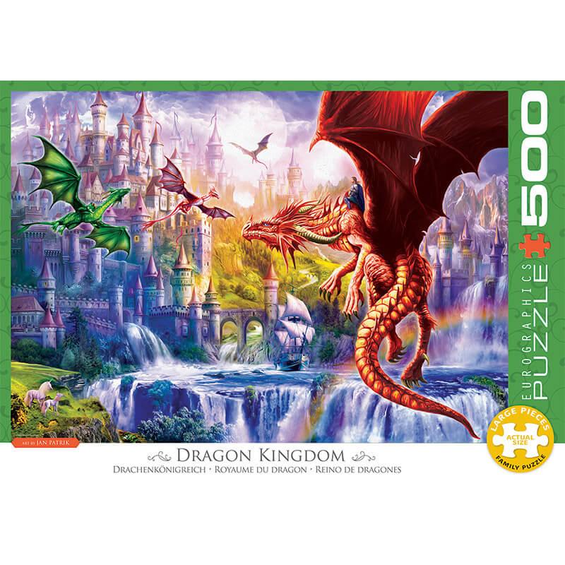 Eurographics Dragon Kingdom 500-Piece Puzzle 6500-5362 - ODDO igračke