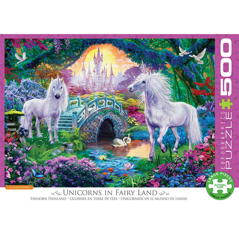 Eurographics Unicorns in Fairy Land 500-Piece Puzzle - ODDO igračke