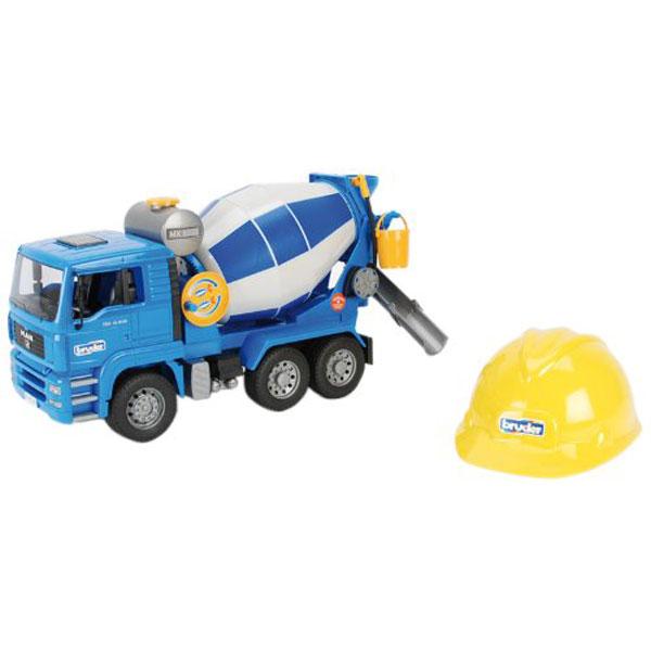 Građevinsko vozilo mixer sa šlemom Bruder 016388 - ODDO igračke