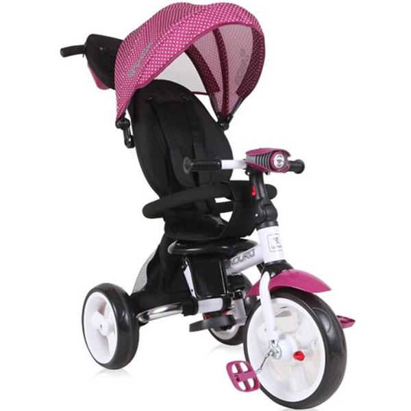 Tricikl sa rotirajućim sedištem Enduro Violet Dots Bertoni 10050410009 - ODDO igračke