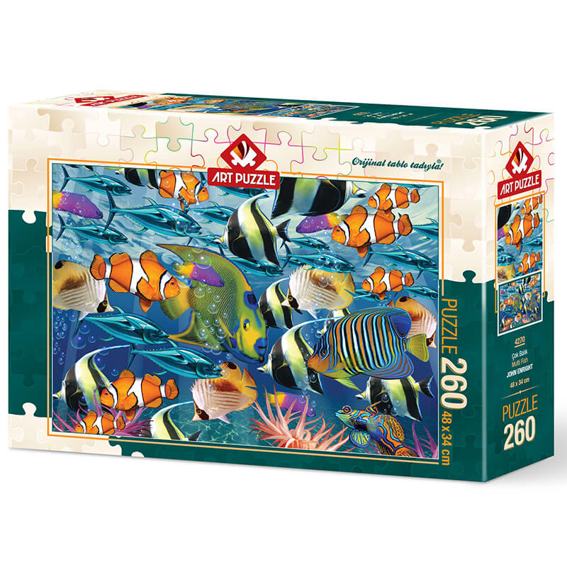 Art puzzle Multi Fish - JOHN ENRIGHT 260 pcs - ODDO igračke