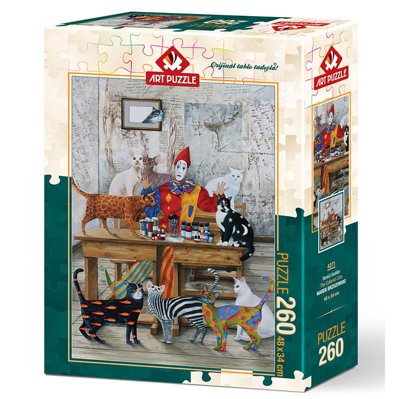 Art puzzle The Colored Cats - MAREK BRZOZOWSKI 260 pcs - ODDO igračke