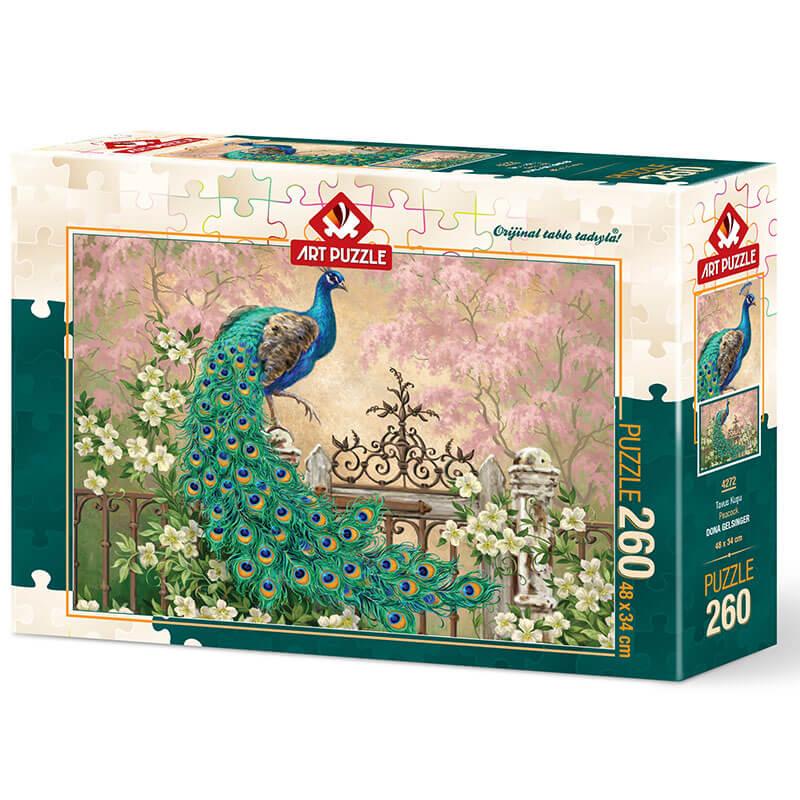 Art puzzle Peacock - DONA GELSINGER 260 pcs - ODDO igračke