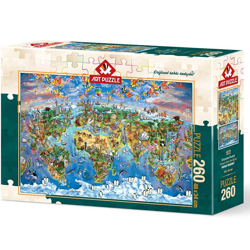 Art puzzle Colours from the World - MARIA ROBINKY 260 pcs - ODDO igračke