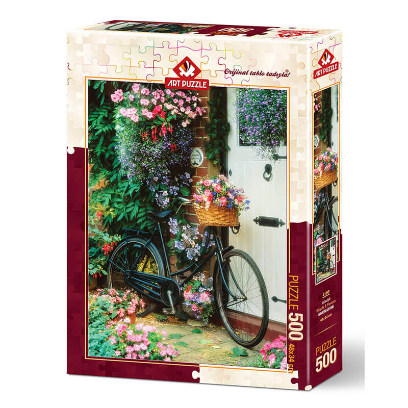 Art puzzle BICYCLE & FLOWERS 500 pcs - ODDO igračke