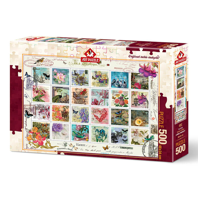 Art puzzle STAMP COLLAGE 500 pcs - ODDO igračke