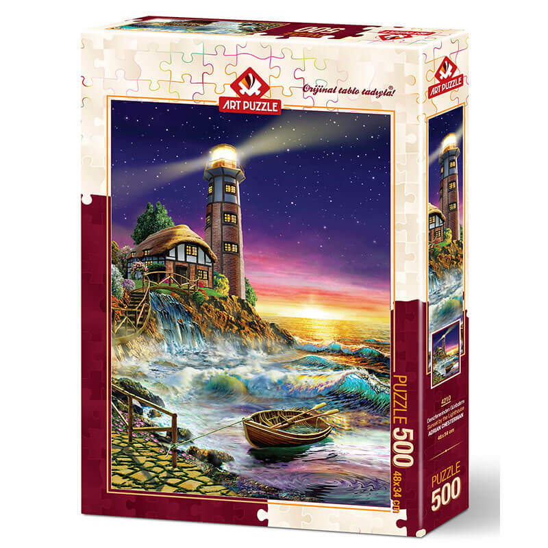 Art puzzle SUNSET BY THE LIGHTHOUSE 500 pcs  - ODDO igračke