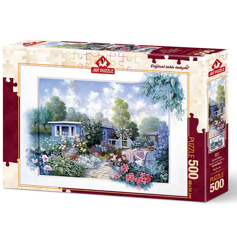 Art puzzle GARDEN WOTH FLOWERS 500 pcs - ODDO igračke