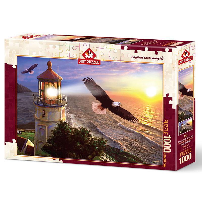 Art puzzle Hight Flyt in the Sunrise 1000 pcs - ODDO igračke