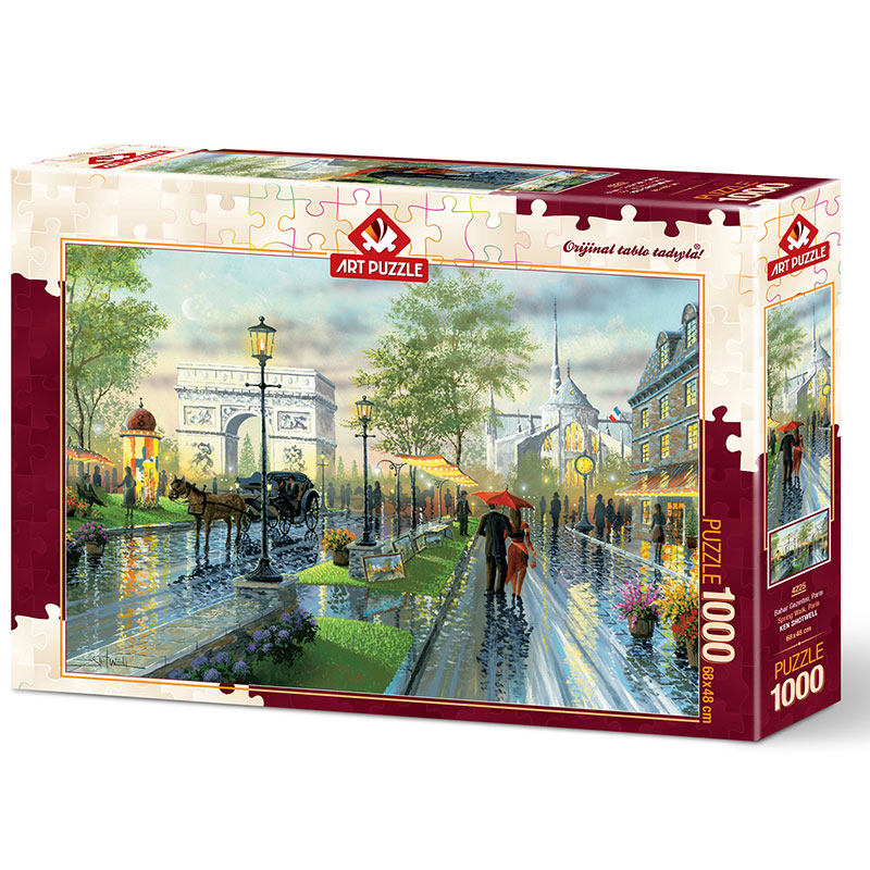 Art puzzle Spring Walk, Paris 1000 pcs - ODDO igračke