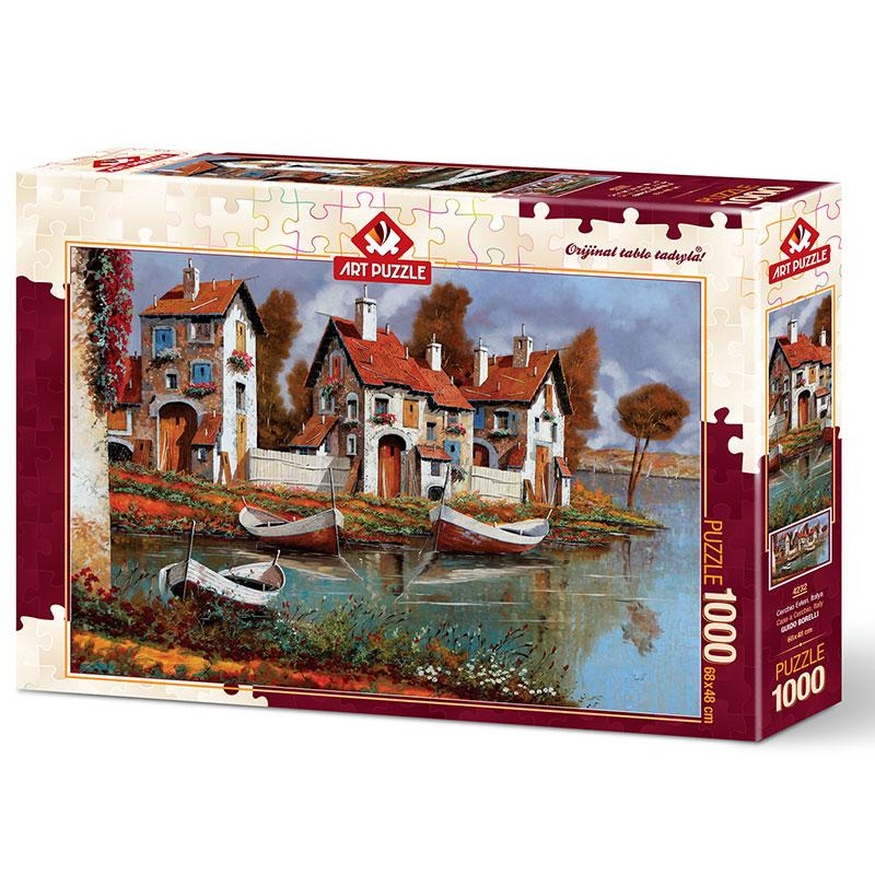 Art puzzle Case a Cerchio,Italy 1000 pcs - ODDO igračke