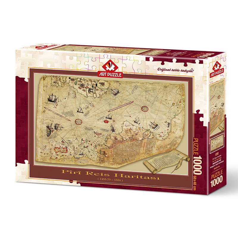 Art puzzle THE PIRI REIS MAP 1000 pcs - ODDO igračke
