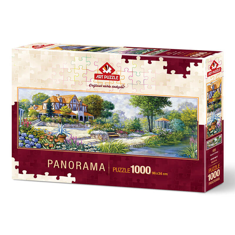 Art puzzle ENGLISH COTTAGE (Panorama) 1000 pcs - ODDO igračke