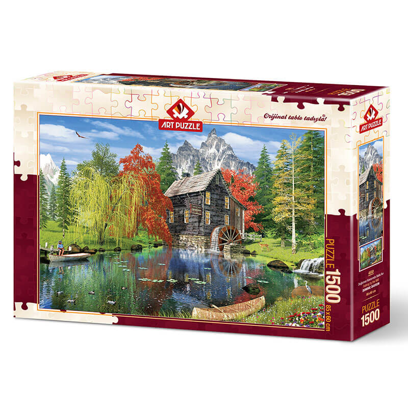 Art puzzle FISHING BY THE MILL 1500 pcs  - ODDO igračke