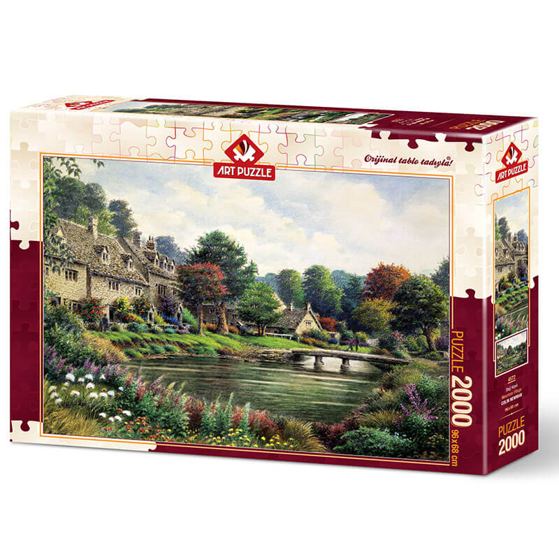 Art puzzle MOUNTAIN VILLAGE 2000 pcs - ODDO igračke