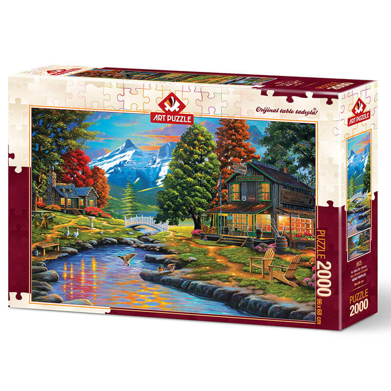 Art puzzle TWO SHORES A FOREST 2000 pcs - ODDO igračke