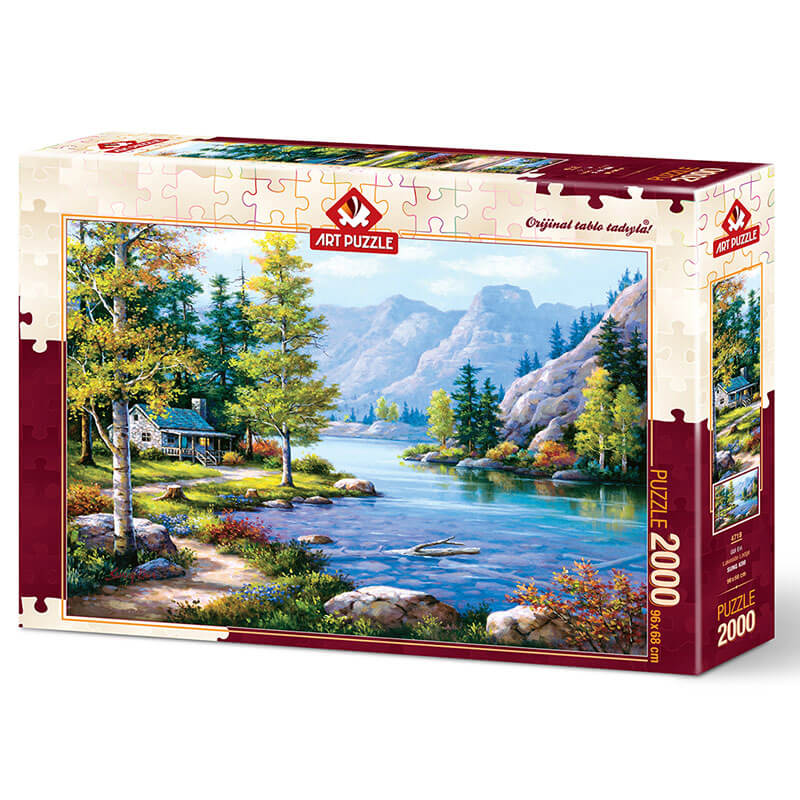 Art puzzle LAKESIDE LODGE 2000 pcs - ODDO igračke