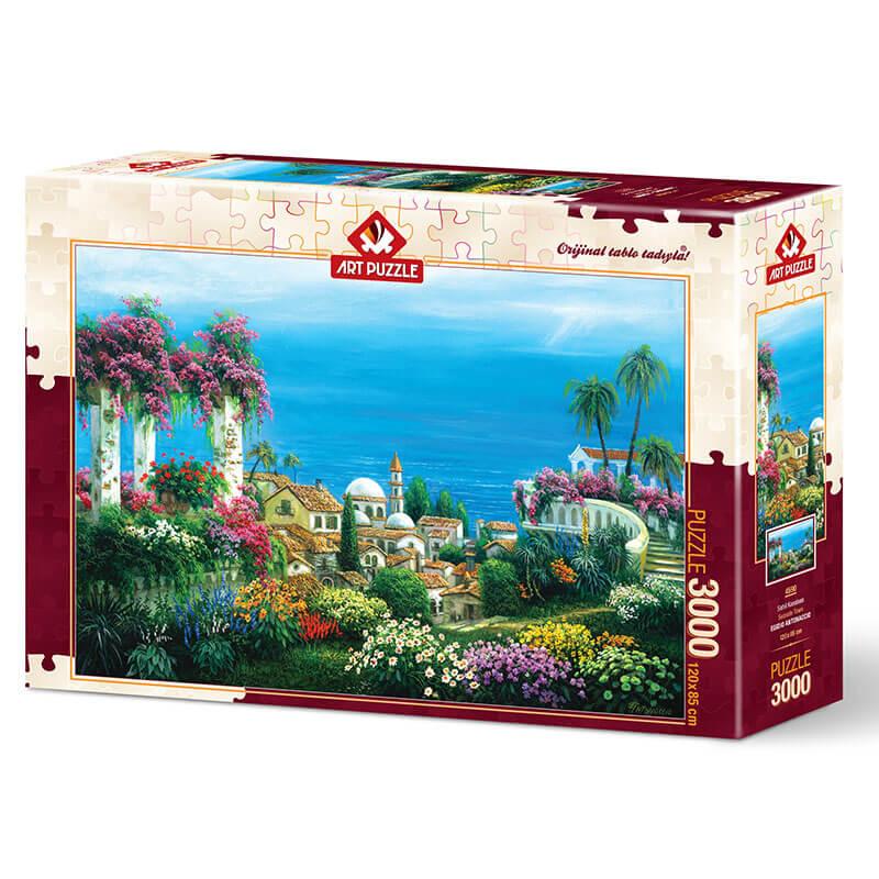 Art puzzle SEASIDE TOWN 3000 pcs - ODDO igračke