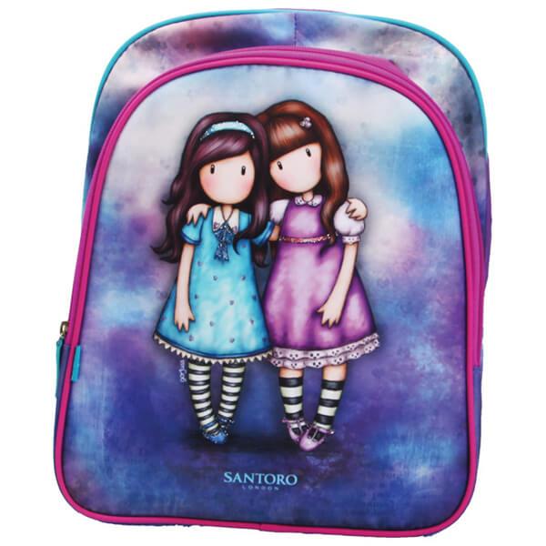 Rančevi za školu pravougaoni Friends Walk Together Gorjuss G4100020 ljubičasto-tirkizni - ODDO igračke