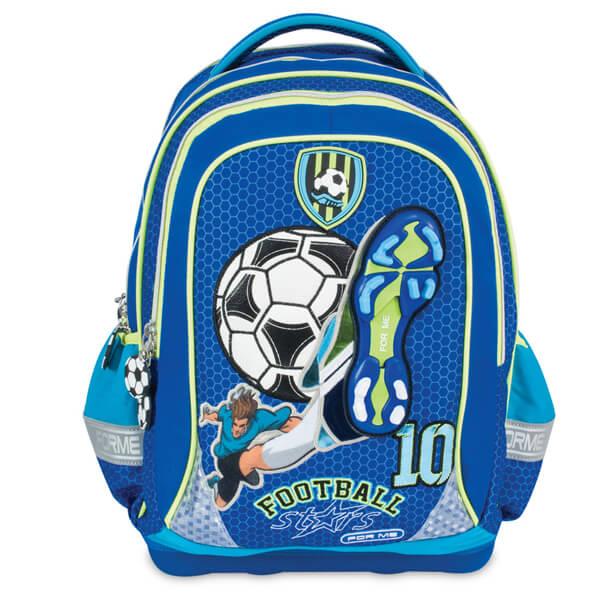Školski ranac anatomski For Me Football Blue FET160410  - ODDO igračke