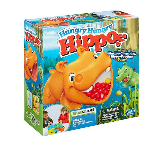 Hungry Hippos Društvena Igra 98936  - ODDO igračke