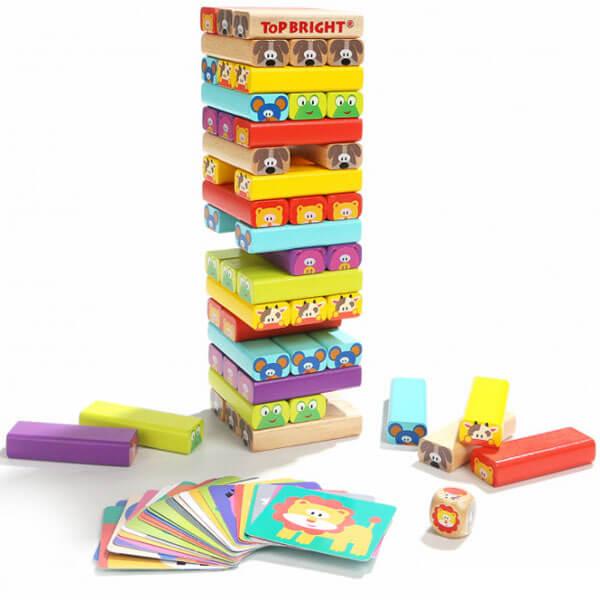 Društvena igra Jenga Životinje Top Bright TB120314 - ODDO igračke
