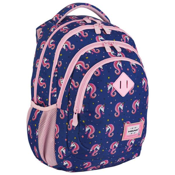 Rančevi đački-notebook sa ojačanjem HD-330 Head 502019054 plavo-roze - ODDO igračke