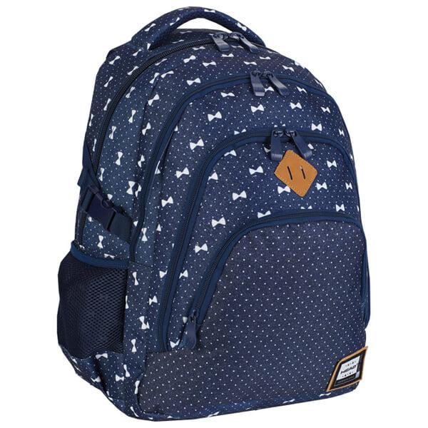Rančevi đački-notebook sa ojačanjem HD-337 Head 502019047 jeans-beli - ODDO igračke