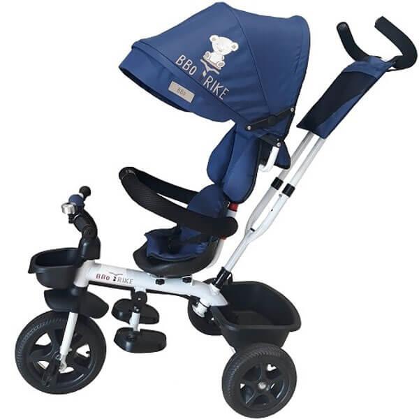 Tricikl sa tendom i ručkom BBO Tricikl Sportisimo plava T188B - ODDO igračke