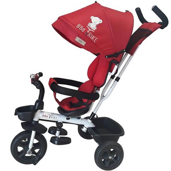 Tricikl sa tendom i ručkom BBO Tricikl Sportisimo crvena T188C - ODDO igračke
