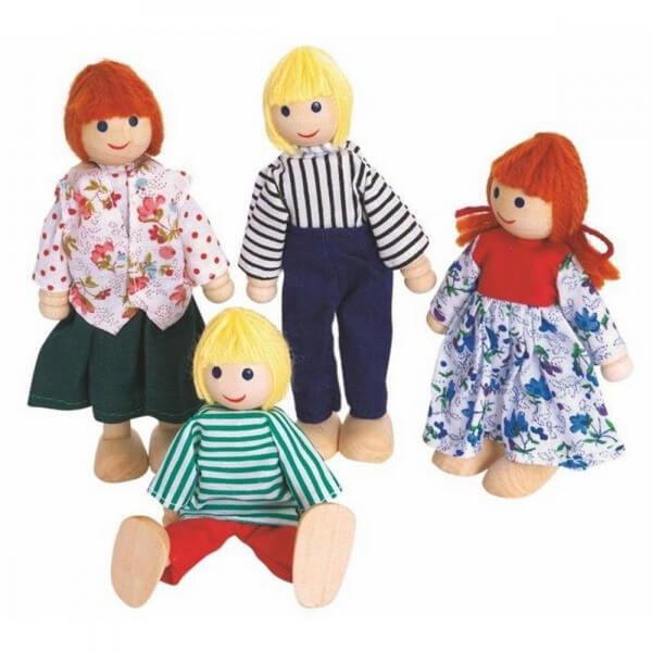 Lutke za kućicu 4 komada 90603   - ODDO igračke