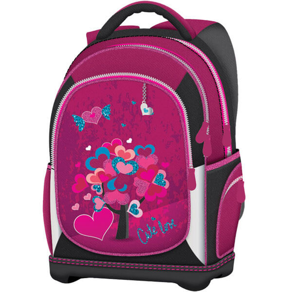 Ranac đački anatomski lagan Cute Love 19.Connect roze 26814 - ODDO igračke