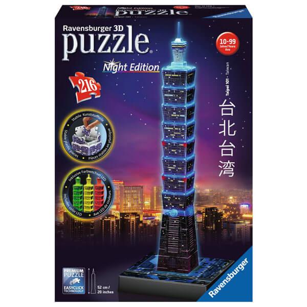Ravensburger 3D puzzle (slagalice) Finansijski centar Taipei 101 noćno izdanje RA11149 - ODDO igračke