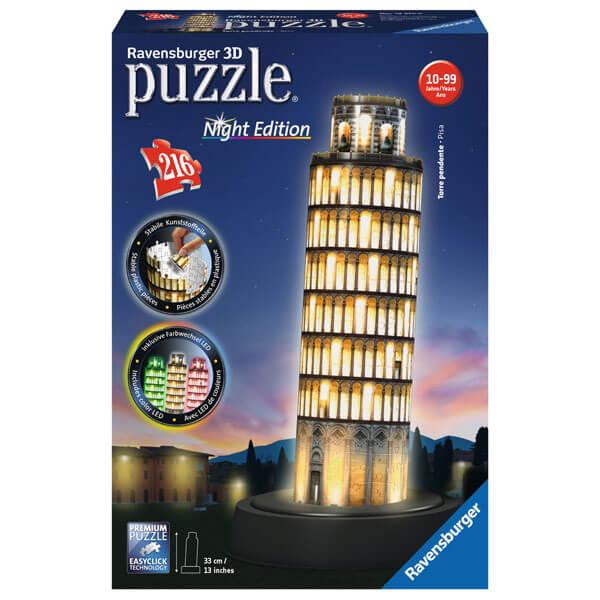 Ravensburger 3D puzzle (slagalice) Toranj u Pizi noćno izdanje RA12515 - ODDO igračke