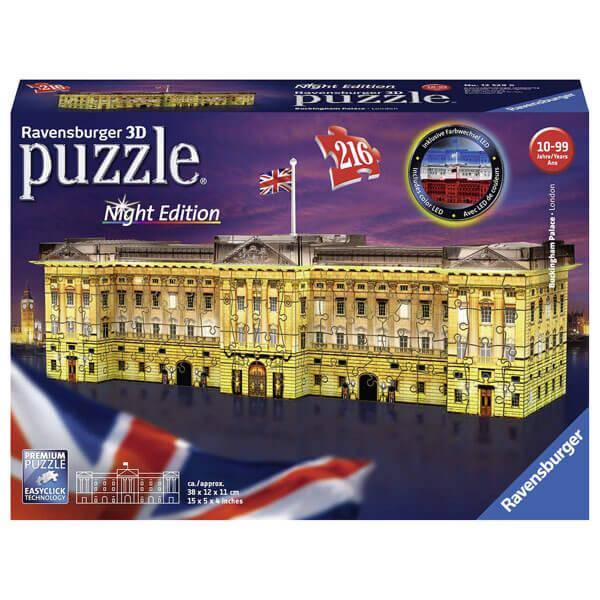 Ravensburger 3D puzzle (slagalice) Bakingemska palata noćno izdanje RA12529 - ODDO igračke